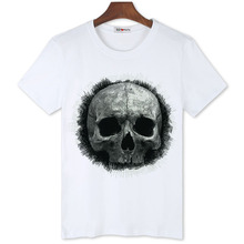 BGtomato art skull Unique tee shirt homme Superm cool hip hop t shirt men Good quality rock tops 3d t shirt cheap sale(China)
