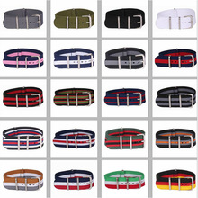 Buy 2 Get 20% OFF) 16/18/20/22/24mm Cambos Stripes Strong nato fabric Nylon Watch watchbands Woven Straps Bands Buckle belt 24mm