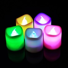 24PCS Candles Lamp Electric LED Light Candles Flameless Smokeless Tea Lights For Christmas Garden/Restaurant/Hotel(China)