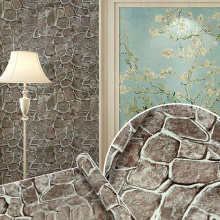 Stone Vintage Vinyl Self-adhesive Wallpaper Rolls Modern Wall Papers Home Decor Living Room Bedroom Wallcoverings 3D Wall Murals