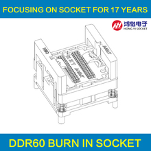 DDR2 3 4 Burn in Test Socket 60/84/78/96 GDDR3 136pin Ball Pin Pitch 0.8mm DDR DIMM DRAM for DDR manufacturer(China)