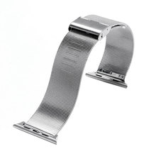 38mm 42mm Strap Solid Link Bracelet strap/ Milanese Loop watchbands Stainless Steel band for apple watch Watchband For iWatch(China)