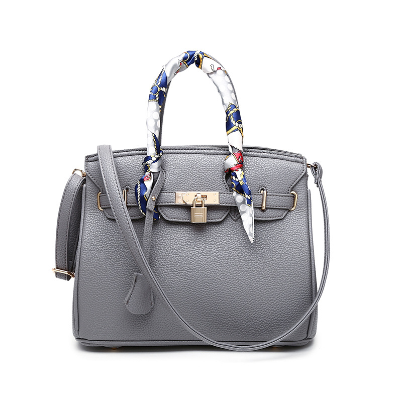 2018 New Luxury Lock Hand Bags Genuine Leather Women Handbags Top-Handle Cow Leather Ladies Shoulder Bags Women Messenger Bags<br>