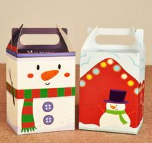 Christmas Eve tray cartoon house with snowman gift box lovely fun candy gift box