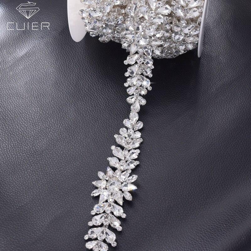 Detail Feedback Questions about 1 yard silver rhinestones wedding ... 2fae6d217965