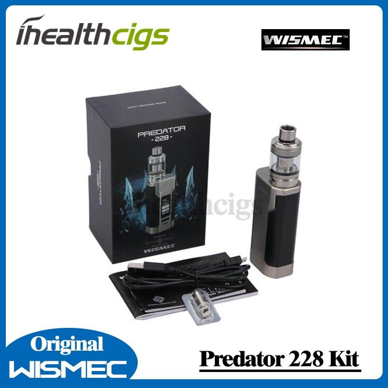 100% Original Wismec Predator 228 Kit 228W Predator 228 Box Mod and 4.9ml/4.6ml NS Triple Elabo Tank<br>