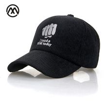 Autumn Winter Baseball Cap Corduroy Autumn Hat For Men Women Gorras Embroidery Fist Accessoires Golf Cap New Style Baseball Hat