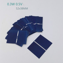 40Pcs Solar Panel Polycrystalline Silicon Solar Cells DIY Flexible Battery Charger Poly 52x38MM 0.3W