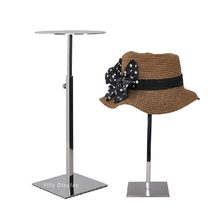 Free Shipping Metal Hat Display Stand Mirror Polish Hat Display Rack Hat Holder Hat Stand Cap Display Cap Stand HH016