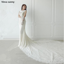 Buy Vinca sunny Vestido de Noiva Manga Longa Mermaid Lace Wedding Dresses Sexy Scoop Wedding Gowns Bridal Wedding Dress for $178.00 in AliExpress store