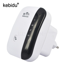 Kebidu Wireless N Wifi Repeater 802.11N/B/G Network Router 300Mbps Range Expander Signal Antennas Booster for Enterprise EU/US(China)