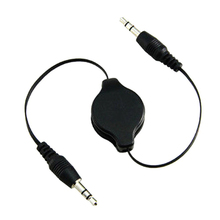 5pcs/Lot Hot Selling 1pcs 3.5mm RETRACTABLE AUXILIARY CABLE CORD Car audio cable for mobile Computer Audio cable MP3