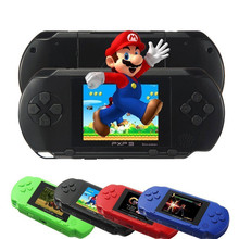 2017 newest 2.7 Inch 16 Bit PXP3 Game console Slim Station TV Video Games Player pocket Handheld game with Game Card AV cable(China)