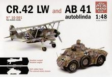 Out of print! [Italeri] Model Kit 1/48 Autoblindo AB 41 e CR 42 LW (BI10-501)