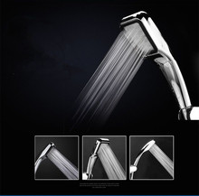jooe shower head Water Saving high pressure With Chrome ABS Square 300 Outlets Booster Hand Held ShowerHead Bathroom