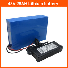 48V 2000W Electric Bicycle battery 48V 26AH Scooter Battery Use for Panasonic 2900mah cell 50A BMS 2A Charger Free customs fee(China)