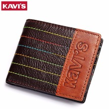 KAVIS Real Genuine Leather Women Card Holder Mini Wallets Brand Designer Man Cowhide Purse Brand Male Female Slim Card Wallet(China)