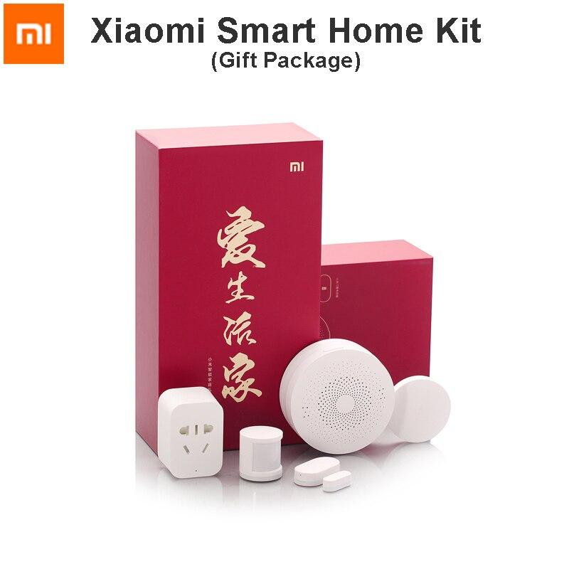 Original Xiaomi Smart Home Kit Gateway Door Window Sensor Body Sensor Wireless Switch Smart Devices Sets with Gift Package<br><br>Aliexpress