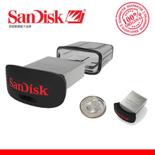 100% SanDisk ULTRA FIT CZ43 USB Flash Drive 64GB PENDRIVE 32GB 16GB Original USB3.0 Pen Drive Support official verification