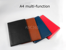 Hot Sale High-grade imitation leather A4 folder / multifunction leather folder Conference