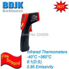 Pocket Infrared Thermometer with Digital Display and Laser Point -40~360 Temperature Measurement