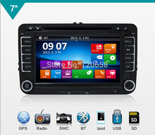 2Din New Fashion Car DVD For VW GOLF POLO CADDY PASSAT B6 B7 JETTA SKODA OCTAVIA With GPS 3D UI RADIO RDS MP3 PC(China)