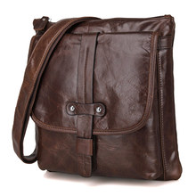 JMD Vintage Genuine Leather Chocolate Men Messenger Bags Cross Body Bags For Men Purse Drop Shipping 5Pcs/Lot #7045Q