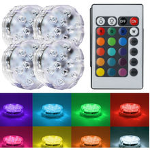 50pcs Submersible Led tea light base underwater Waterproof Wedding Party floral Vase light centerpiece swimming pool lights