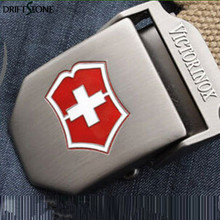 Red Cross Shield casual canvas belt men's outdoor thick tactical belt alloy buckle free shipping