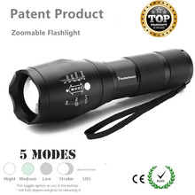 High Quality LED Flashlight Zoomable 5Modes Torch xml T6 3800LM linterna led lampe torche for 18650 Rechargeable or AAA Battery