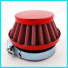 58mm Performance Red Air Filter For Mini Moto Pocket Dirt Bike Gas Motorized Bicycle Motorcycle Motor(China)