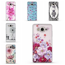 Flower Printing Cases For Samsung Galaxy On7 Cover Case On 7 Mega O7 G600 G6000 Protective Skin Soft Rubber Cell phone Bags(China)