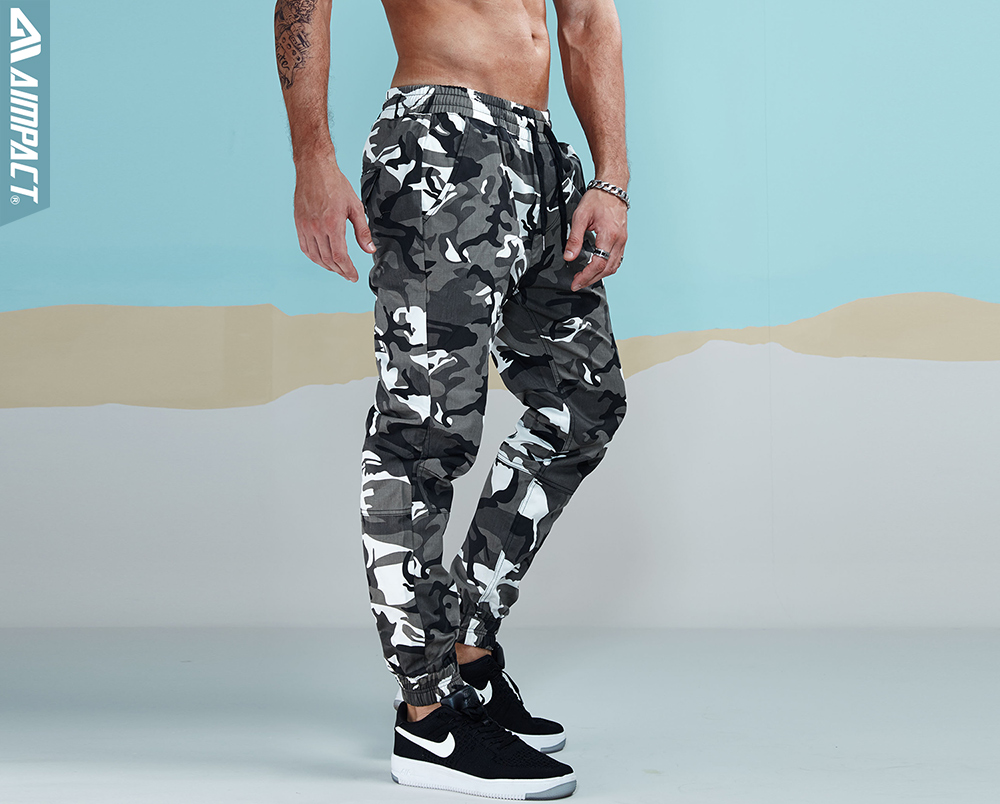 Aimpact 2017 New Men's Casual Camo Pants Cotton Chino Jogger Pants (5)