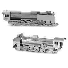 3D Metal Puzzles DIY Model Steam Train Jigsaws toys Present Gift
