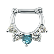 1.6mm Nose Cz Zirconia Clicker Septum Piercing Ring Cartilage Seamless Hinged Segment Clicker Hoop Nose Septum Ring Body Jewelty