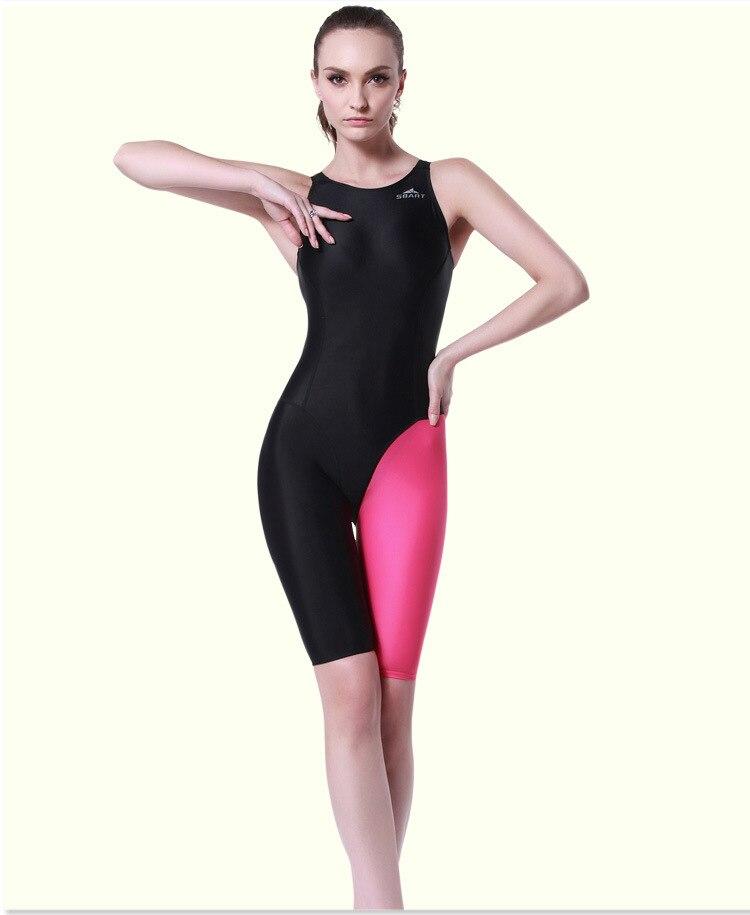 Women Knee Length Swimsuit Sexy Racing Competition Leotard Sport One Piece Swimwear Professional Triathlon Bathing Beach Suit <br>