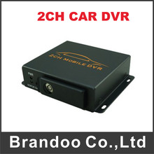 Mini Mobile Portable Car/Bus Black Box DVR 2CH Mini Car Vehicle DVR Video Recorder(China)