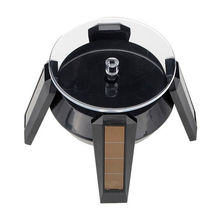 NEW Solar Powered 360degree Rotating Jewelry Watch Cellphone Display Stand Turn Table(China)