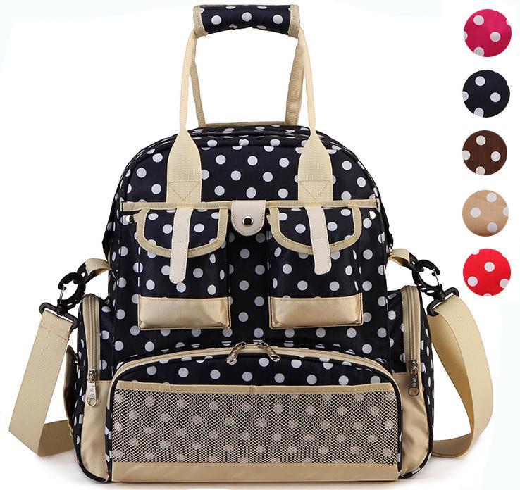 Multifunction Mom Backpack Strollers Bag Baby Care Diaper Nappy Bags Large Capacity Waterproof Mummy Bag Maternal Shoulder Bag<br>
