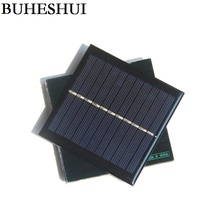 BUHESHUI 5.5V 1W Mini Solar Panels Small Solar Power 3.7VBattery Charger Solar Cell 95*95*3MM Epoxy Study 5pcs/lot Free Shipping(China)