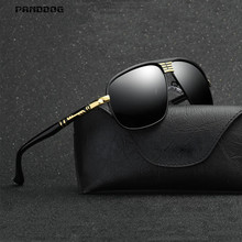 PANDDOG 2018 Sun Glasses Men UV400 Polarized Sunglasses Brand Design Driving Glasses Goggles With Cortex Case And Cloth WD272(China)