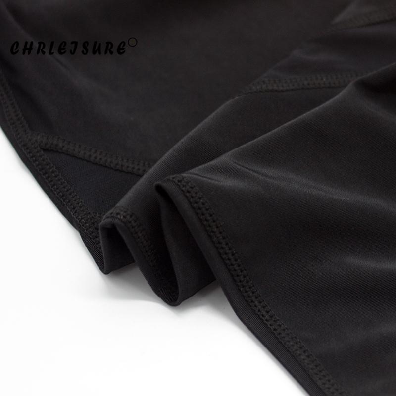 CHRLEISURE Sexy Women Leggings Gothic Insert Mesh Design Trousers Pants Big Size Black Capris Sportswear New Fitness Leggings 20