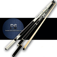 2015 new design snooker cue stick 1/2 Jointed Maple wood with mini extension 9.5mm leather cue tip Uni-Loc joint