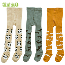3Pair/lot Kids Toddler Tights Kawaii Boys Girls Tights Soft Cotton Baby Children Stocking Pantyhose Infants Clothing For 0-3 Y(China)