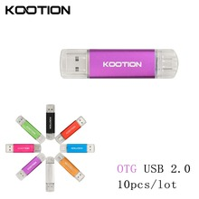1 Mini OTG USB 2.0 Flash Drives 64GB Pen Driver 32GB 16GB 8GB Disk Memory Stick Pendrive Gift Clef Smartphone - Instruments_tech store