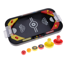 2 In 1 Mini Plastic Soccer And Nock Hockey Table Top Desktop Games Toy For Kids Children(China)