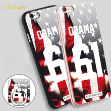 Minason Eleven Paris Coque Obama 61 Pour Mobile Phone Shell Soft TPU Silicone Case Cover for iPhone X 8 5 SE 5S 6 6S 7 Plus(China)