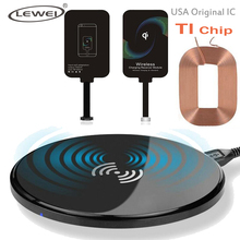 Buy LEWEI Ultra Thin 8mm QI Wireless Charger Charging Receiver Set Adapter iPhone 7 7s 5S SE 6 6S Plus USA TI Chip for $10.33 in AliExpress store
