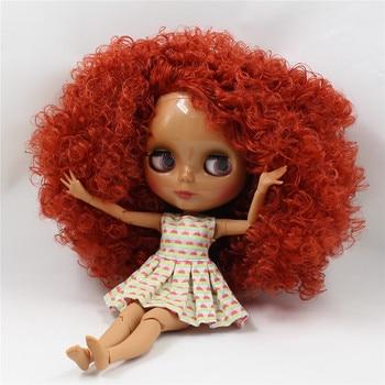 Nu poupée Usine Blyth poupée jouet cadeau 280BLQE150 Profonde Orange Rouge cheveux CONJOINTE corps foncé peau neo 30 cm 1/6 poupée