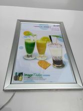 A2 Silver Clip/snap frame LED display/sign Light Box menu board, backlit poster